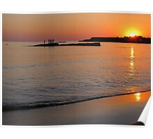 Summer Sunset - Spanish Point Beach, Clare, Ireland Poster