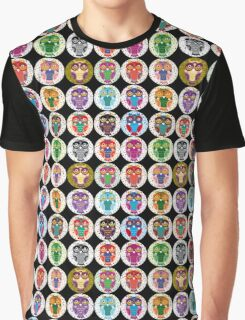 funny colorful owls Graphic T-Shirt