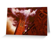 Red Gothic Greeting Card