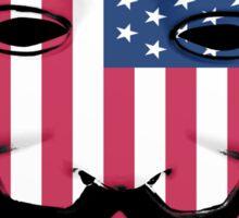 Guy Fawkes American Flag Sticker