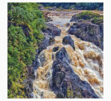 Raging  water over Barron Falls One Piece - Short Sleeve