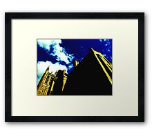 Yellow Gothic Framed Print