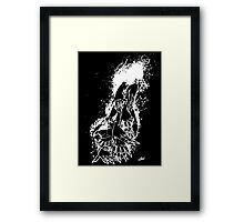 The Last Caress (black) Framed Print