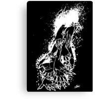 The Last Caress (black) Canvas Print
