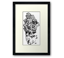 Headscape (white) Framed Print