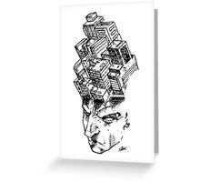 Headscape (white) Greeting Card
