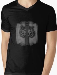 Spooky Slender Man with Tentacles Mens V-Neck T-Shirt