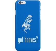 got hooves? White iPhone Case/Skin
