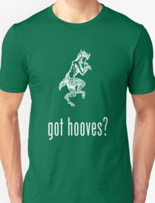 got hooves? White Unisex T-Shirt