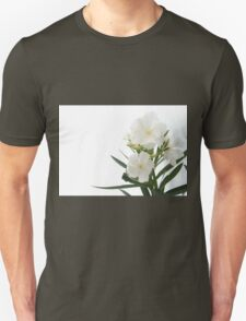 White Oleander Flowers Close Up Isolated On White Background  T-Shirt
