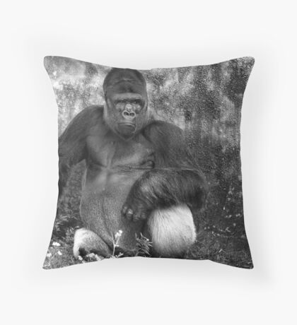 Western Lowland Gorilla Throw Pillow