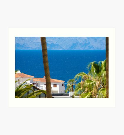 The view down to the sea Art Print