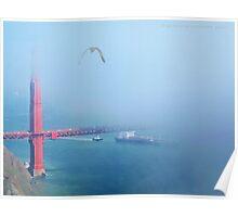 Tanker under the Golden Gate Poster