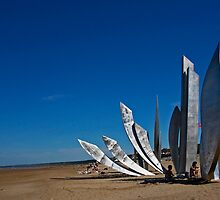 Les Braves at Omaha Beach by cclaude