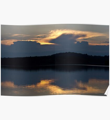 May Evening Sky Poster