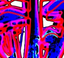 Neon Shrooms Sticker