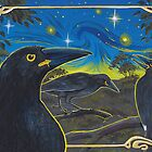Currawongs by SnakeArtist