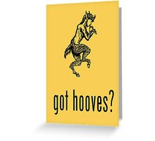 got hooves? Black Greeting Card