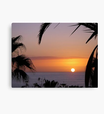 Sunset in Los Gigantes Canvas Print