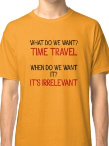 Time Travel Protest Classic T-Shirt