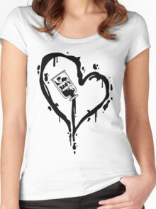 Love Heart Women's Fitted Scoop T-Shirt