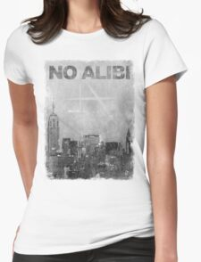 Scratched Skyline Womens Fitted T-Shirt