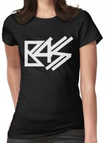 BASS (white)  Womens Fitted T-Shirt