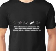 Particular Set of Gaming Skills Dark Unisex T-Shirt