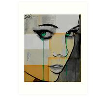 Isis (face on segmented paper) Art Print