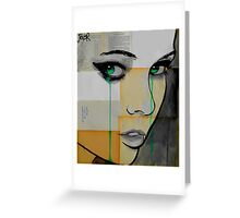 Isis (face on segmented paper) Greeting Card