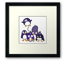 Penguin Parade Framed Print
