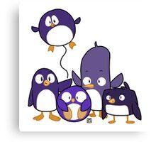 Penguin Parade Canvas Print