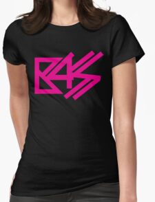 BASS (pink)  Womens Fitted T-Shirt