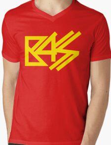 BASS (yellow) Mens V-Neck T-Shirt
