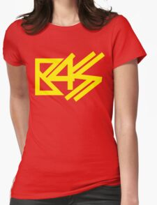 BASS (yellow) Womens Fitted T-Shirt