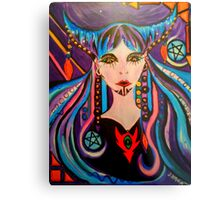The 2 of Pentacles - Witch Tarot Illustration Metal Print