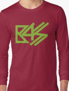 BASS (neon green)  Long Sleeve T-Shirt