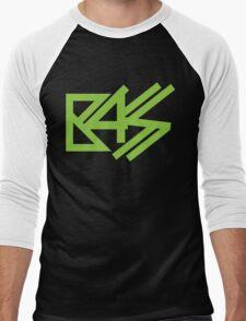 BASS (neon green)  Men's Baseball ¾ T-Shirt