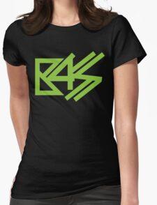 BASS (neon green)  Womens Fitted T-Shirt