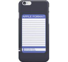 iPhone Floppy Label - purple iPhone Case/Skin