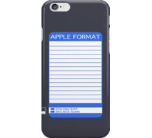 iPhone Floppy Label - blue iPhone Case/Skin