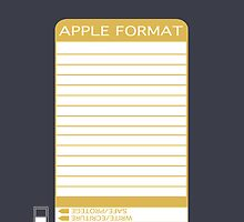 iPhone Floppy Label - gold by Maggie McFee