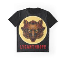 LYCANTHROPE (werewolf) with Full Moon Graphic T-Shirt