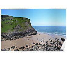 Thurba Head, Mewslade Bay, Gower Peninsula Poster
