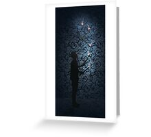 Juggling Torches Silhouette Greeting Card