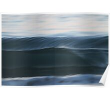 Blurred Wave Photograph Poster