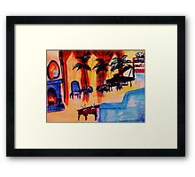 The  grand room, waterckour Framed Print