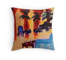 The  grand room, waterckour Throw Pillow