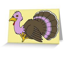Thanksgiving Turkey with Light Purple Feathers Greeting Card