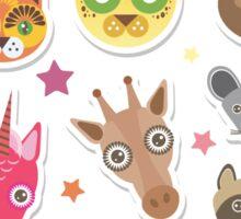funny animals muzzle Sticker